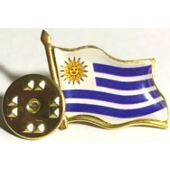 URU Souvenir, 2019, (UNC), Metal, Título: Bandeira do Uruguai, Botton.