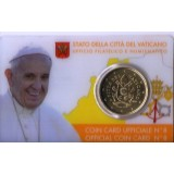 VAT Medalha, 2017, (UNC), 50 Eurocent, Vatican City State - Official Coin Card nº 8 - 2017.