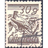 AUS Selo, Definitivo/Regular, 1925, (N), Yt:AT 344, Values in Groschen and Schilling, Golden Eagle (Aquila chrysaetos).