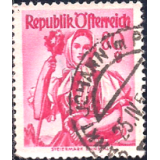 AUS Selo, Definitivo/Regular, 1958, (N), Yt:AT 891, National Costumes, Styria, Ennstal.