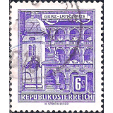 AUS Selo, Definitivo/Regular, 1960, (N), Yt:AT 873AE, Republik Osterreich, Architectural Monuments in Austria (State parliament house, Graz).