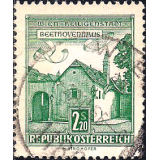 AUS Selo, Definitivo/Regular, 1962, (N), Yt:AT 956B, Architectural Monuments in Austria, Beethoven House, Vienna-Heiligenstadt.