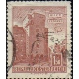 "AUS Selo, 1965, (N), Yt:AT 872AA, Republik Osterreich, Architectural Monuments in Austria (Housing ""Rabenhof"", Vienna-Erdberg)."