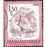AUS Selo, Definitivo/Regular, 1974, (N), Yt:AT 1269, Landscapes of Austria, Bludenz, Vorarlberg.