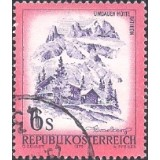 AUS Selo, Definitivo/Regular, 1975, (N), Yt:AT 1305, Landscapes of Austria,  Lindauer Hütte im Rätikon, Vorarlberg.