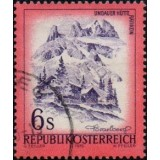 AUS Selo, Definitivo, Regular, 1975, (U), Yt:AT 1305, Republik Osterreich, Landscapes of Austria (Lindauer Hütte im Rätikon, Vorarlberg).