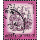 AUS Selo, 1977, (N), Yt:AT 1379, Landscapes of Austria, Hohensalzburg Fortress.
