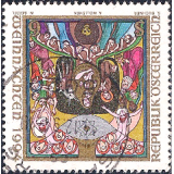"AUS Selo, Definitivo/Regular, 1994, (N), Yt:AT 1973, Christmas, ""The Birth of Christ"" by Anton Wollenek."