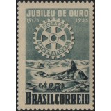 Br-Selo, 1955, C-358-RHM, (Mint), Cinquentenário do Rotary Club Internacional.