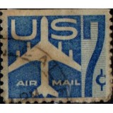 USA Selo Aéreo, 1958, (U), Yt:US PA50, Silhouette of Jet Airliner.