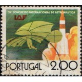 POR Selo, 1975, (U), Yt:PT 1271, The 26th International Congress of Space Travel, Ícaro e Foguete.