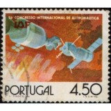 POR Selo, 1975, (U), Yt:PT 1272, The Opening of the Satellite Station, Apollo and Soyuz in space.