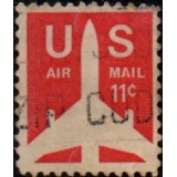 USA Selo Aéreo, 1971, (U), Yt:US PA74p, Silhouette of Jet Airliner.