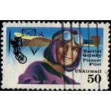 USA Selo Aéreo, 1991, (U), Yt:US PA121, Harriet Quimby (1884-1912), 1st American Pilot with Beiriot.