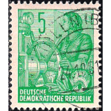Alemanha (RDA) Selo, 1953, (N), Definitives - Five-Year Plan - Posthorn Horizontal in Watermark - Lithography Printing.