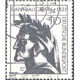 GER (BRD) Selo, 1971, (N), Yt:DE 549, The 650th Anniversary of the Death of Dante Alighieri, Dante Alighieri (1265-1321), italian poet, scholar and polit.