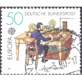 GER (BRD) Selo, 1979, (N), Yt:DE 855, EUROPA Stamps - Post & Telecommunications, Telegraph Office, 1863.