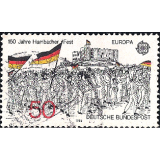 "GER (BRD) Selo, 1982, (N), Yt:DE 962, EUROPA Stamps - Historic Events, ""Procession to Hambach Castle, 1832"" (wood engraving)."
