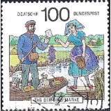 GER (BRD) Selo, 1991, (N), Yt:DE 1402, The Day of Stamps, Postal delivery in Spreewald Region.