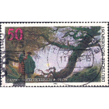GER (BRD) Selo, 1974, (N), Yt:DE 664, The 200th Anniversary of the Death of Caspar David Friedrich, Painter (1774-1840).