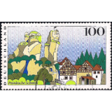 GER (BRD) Selo, 1997, (N), Yt:DE 1775, Landscapes, Bavarian Forest (Views from Germany).