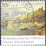GER (BRD) Selo, 2006, (N), Yt:DE 2359, World Heritage of UNESCO - Upper Middle Rhine Valley, Rhine Valley (World Heritage 2002).