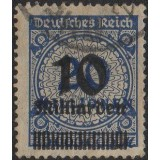 AIM (Alemanha) Selo, 1923, (U), Yt:DR 314, Billion Overprint (Surch in Milliarden).