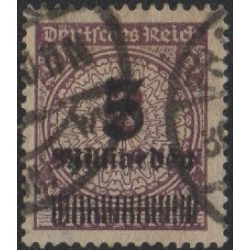 AIM (Alemanha) Selo, 1923, (U), Yt:DR 311, Billion Overprint (Surch in Milliarden).