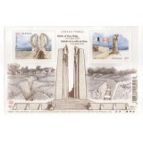 CAN Bloco, 2017, (Mint), 100th Anniversary of the Battle of Vimy.