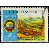 COL Selo, 1966, (U), The 25th Anniversary of Colombian Automobile Club.