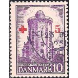 DIN Selo 1942, (N), Yt:DK 281, The 300th Anniversary of the Round Tower in Copenhagen Round Tower of Trinity Church.