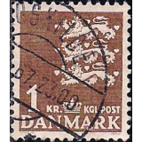 DIN Selo 1946, (N), Yt:DK 304, Small National Arms, Coat of arms.