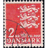 DIN Selo 1947, (N), Yt:DK 305, Small National Arms, Coat of arms.