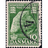 DIN Selo 1953, (N), Yt:DK 347, The 1000th Anniversary of the Kingdom of Denmark Runic Stone at Jelling.