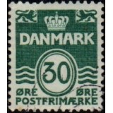 DIN Selo Regular, 1967, (N), Yt:DK 463, Wavy Lines - New Value.