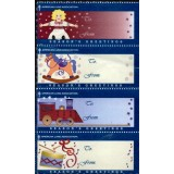 USA Quadra, 1999, (Mint), American Lung Association, Season's Greetings. (American Lung Association, Cumprimentos da Estação).