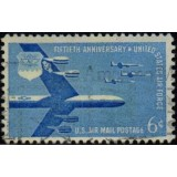 USA Selo Aéreo, 1957, (U), Yt:US PA49, Fiftieth Anniversary Air Force.