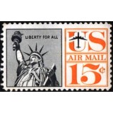 USA Selo Aéreo, 1961, (U), Yt:US PA59, Liberty for all - Statue Of Liberty.