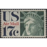 USA Selo Aéreo, 1971, (U), Yt:US PA76, Statue Of Liberty.