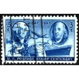 USA Selo, 1947, (U), Yt:US 499,The 100th Anniversary of United States Postage Stamps.