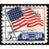 USA Selo, 1963, (U), Yt:US 743, Flag over White House.