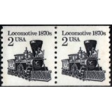 USA Selo, 1982, (U), Yt:US 1440, Transportation Issue, Locomotive Pair.