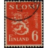 FIN Selo, 1945, (U), Yt:FI 296, Lion (Coat of Arms).