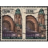 FIN Selo, 1971, (U), Yt:FI 663, The Central Train Station in Helsinki.