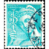 FRA Selo, 1945, (N), Overprint on Mercury.