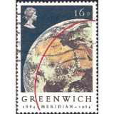 GRB Selo, 1984, (N), Yt:GB 1131. The 100th Anniversary of the Greenwich Meridian, View of Earth from 'Apollo 11'.