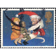 GRB Selo, 1997, (N), Yt:GB 2002. Christmas Stamps, Children and Father Christmas pulling Crackers.