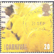 GRB Selo, 1998, (N), Yt:GB 2032. Festivals and National Celebrations - Notting Hill Carnival, Europa. Woman in Yellow Feathered Costume.