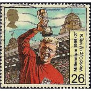 GRB Selo, 1999, (N), Yt:GB 2101. Bobby Moore with World Cup, 1966, 1999 Entertainment and Sports.