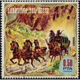 GEQ Selo, 1974, (Mint), Yt:GQ 48-E, Stagecoach (The Wild West).